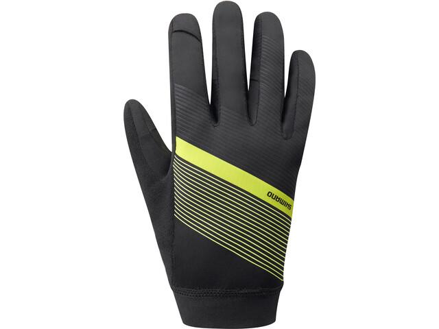 Shimano Wind Control Gloves Men neon yellow